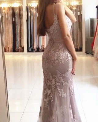 Elegant evening dresses long with lace mermaid prom dresses cheap online_2