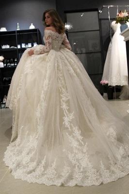 Elegante Brautkleider Prinzessin | Hochzeitskleid Mit Spitzenärmeln_4