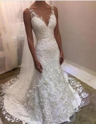 Fashion Brautkleider Mit Spitze | Hochzeitskleider Rückenfrei Online_1