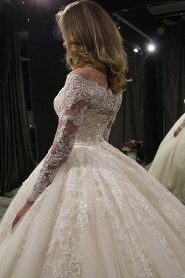 Elegante Brautkleider Prinzessin | Hochzeitskleid Mit Spitzenärmeln_3