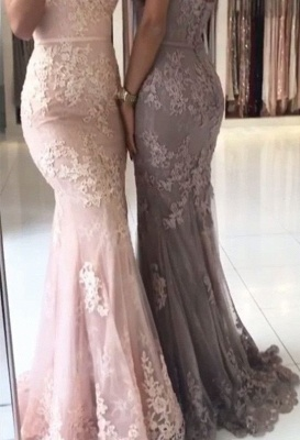 Elegant evening dresses long with lace mermaid prom dresses cheap online_4