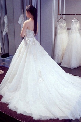 Sexy white wedding dresses with lace heart a line bridal wedding gowns cheap online_3