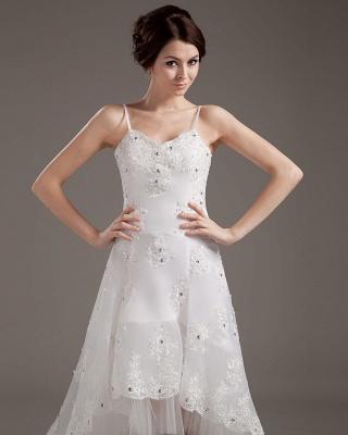 Designer Hochzeitskleider Elfenbein Spitze KUrz Lang Brautkleider Hochzeitsmoden_2