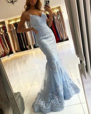 Elegante Abendkleider Blau | Abendmoden Abiballkleider Lang Spitze