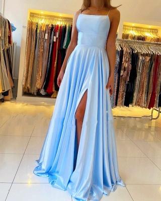 Modern Blau Abendkleider Lang | Günstige Abendmoden Abiballkleid_3