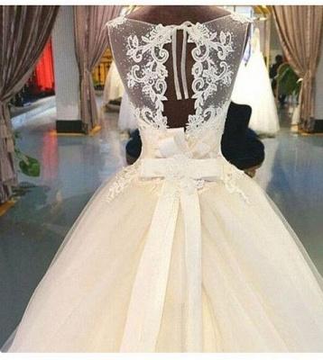 Exklusive Brautkleider Weiß Mit Spitze Prinzessin Organza Brautmoden Hochzeitskleider_3