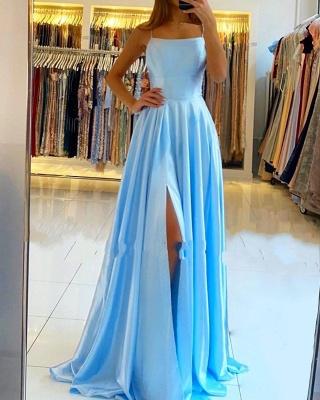 Modern Blau Abendkleider Lang | Günstige Abendmoden Abiballkleid