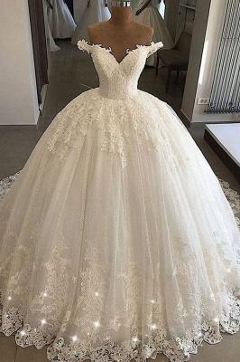 Elegante Brautkleider Prinzessin | Spitze Hochzeitskleider Günstig Online_1