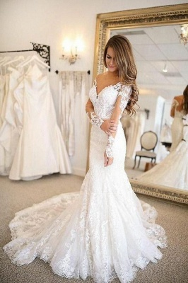 Modern wedding dresses with sleeves | Wedding dresses lace cheap_1