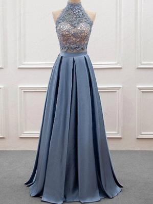 Elegante 2 Teilige Abendkleider, Spitze Abendkleider Spitzenkleid lang Online_1