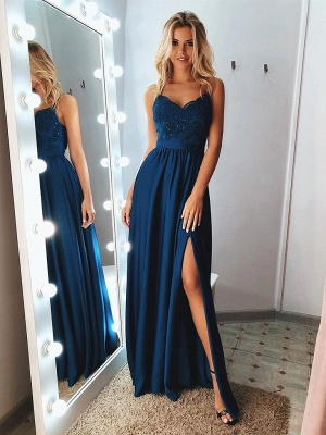 Simple evening dress long | Prom dresses with lace_1