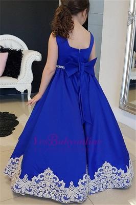Blau Kinderkleider für Hhochzeit Günstige Blumenmädchenkleider_2