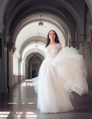 Neue Etuikleider Brautkleider Weiß Mit Spitze Organza Brautmoden Hochzeitskleider_3