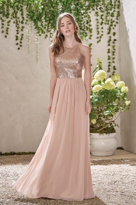 Elegant Bridesmaid Dresses Long Cheap Etuiline Chiffon Dresses Bridesmaids_1