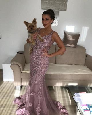 Luxury evening dresses long pink | Evening dress lace cheap_2