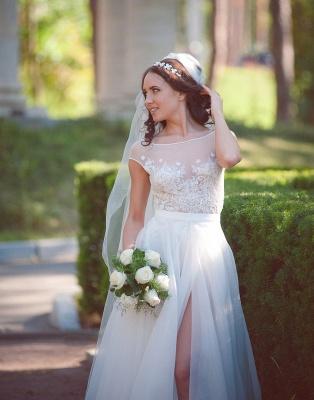 Neue Etuikleider Brautkleider Weiß Mit Spitze Organza Brautmoden Hochzeitskleider_1