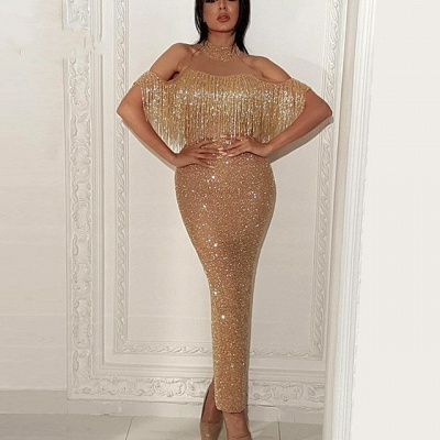 Elegant Evening Dress Gold Long Sequin Prom Dresses Prom Dresses Online_2