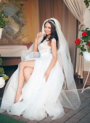 Neue Etuikleider Brautkleider Weiß Mit Spitze Organza Brautmoden Hochzeitskleider_4