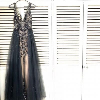 Luxury evening dresses long black | Prom dresses glitter online_2