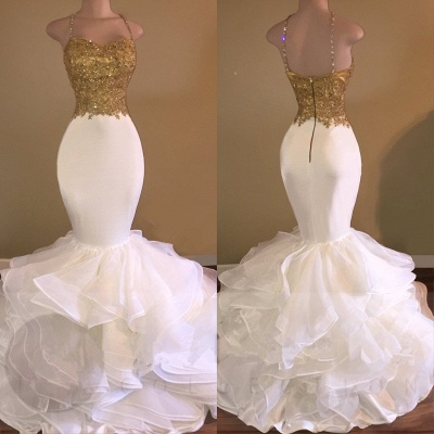 White evening dresses long with golden lace prom dresses cheap online_2