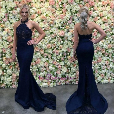 Dark blue evening dresses order online mermaid evening dress lace online_2