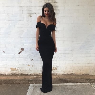 Sexy Black Evening Dresses Prom Dresses Long Mermaid Evening Wear Online_2