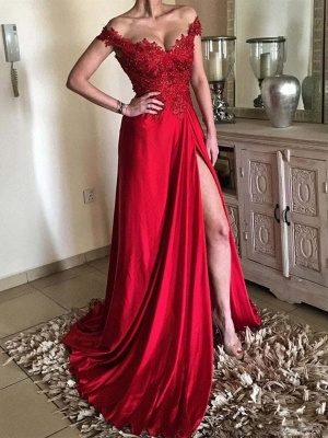 Sexy evening dresses long red lace | Chic evening wear cheap_1