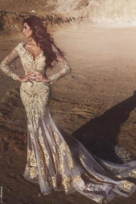 Designer Wedding Dresses Lace Long Sleeves Mermaid Bridal Gowns Buy Online_1