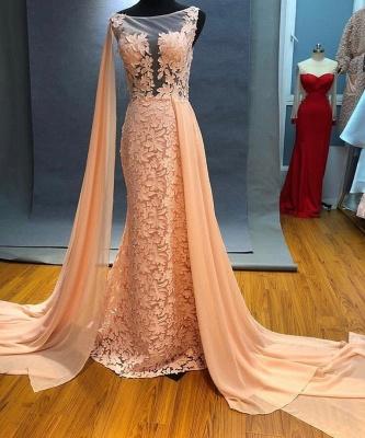 Elegant Long Evening Dresses Cheap | Lace evening dress online_1