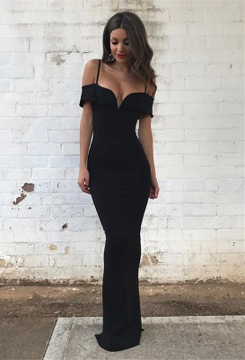 Sexy Black Evening Dresses Prom Dresses Long Mermaid Evening Wear Online_1