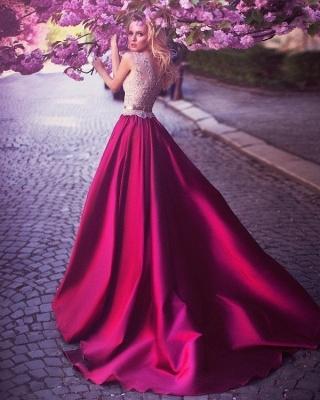 Elegante Abendkleider Lang Mit Spitze | Günstig Abendmoden Fuchisa Online_3