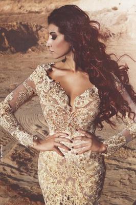 Designer Wedding Dresses Lace Long Sleeves Mermaid Bridal Gowns Buy Online_2