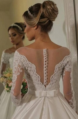 Luxury wedding dresses with sleeves | Wedding dress lace princess_2