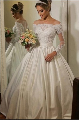 Luxury wedding dresses with sleeves | Wedding dress lace princess_1