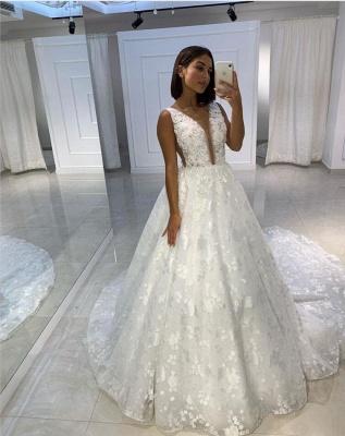 Fashion Prinzessin Brautkleider A Linie | Spitze Hochzeitskleider Online_1