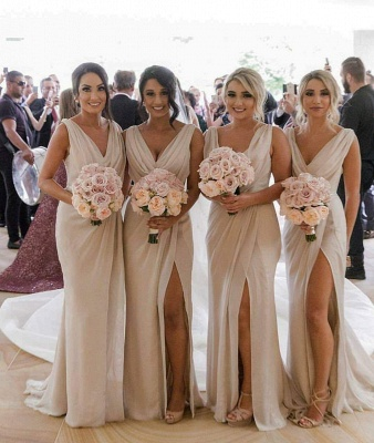 Elegante Brautjungfernkleider Lang Chiffon | Kleider für Brautjungfern_1