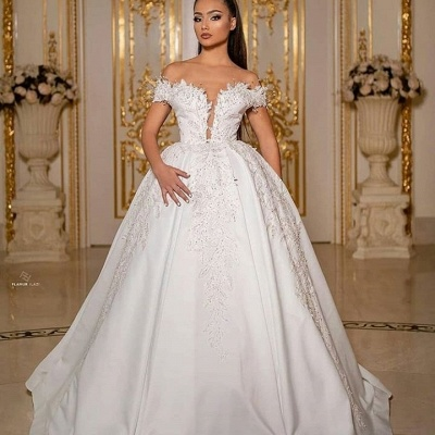 Elegant wedding dresses princess | Bridal wear with sleeves_2