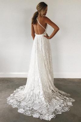 Fashion Weiße Hochzeitskleider Spitze Etuikleider Brautkleider Günstig Online_2