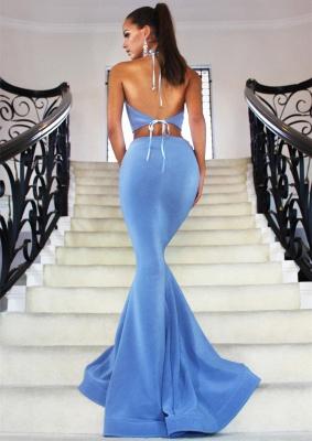 Rosa Abiballkleider Neckholder Meerjungfrau Zweitteilige Abendmoden Abendkleider_2