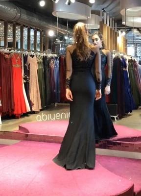 Elegante Schwarzes Abendkleid | Glitzer Abendkleider Lang Mit Ärmel_4