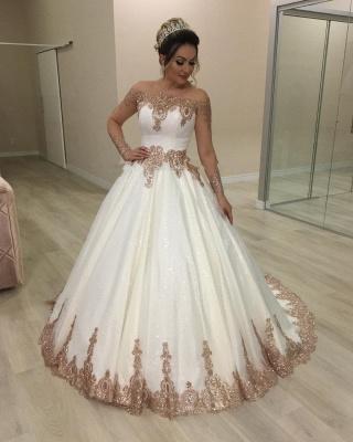 Designer Hochzeitskleider Gold Weiß | Brautkleider mit Glitzer_2