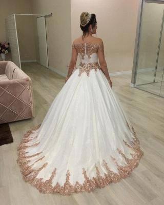 Designer Hochzeitskleider Gold Weiß | Brautkleider mit Glitzer_3