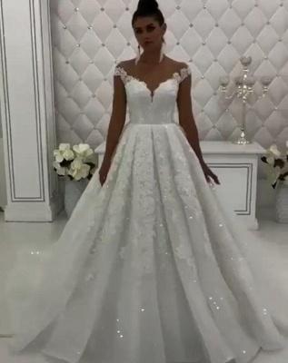 Elegante Brautkleid A Linie | Hochzeitskleider Mit Spitze Online_1