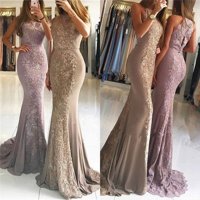 Elegant Evening Dresses Long With Lace Chiffon Evening Wear Prom Dresses Online_3