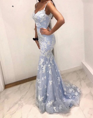 Designer evening dresses with lace | Cheap long prom dresses online_4