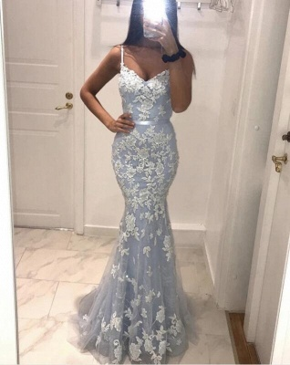 Designer evening dresses with lace | Cheap long prom dresses online_3