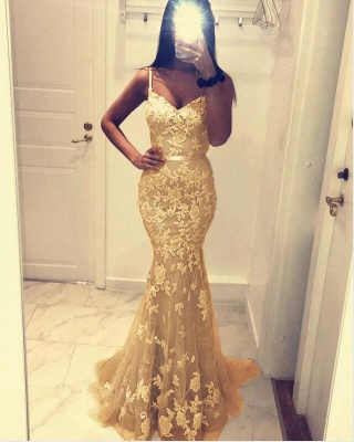 Designer evening dresses with lace | Cheap long prom dresses online_2