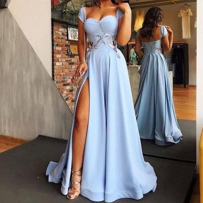 Hell Blaues Abendkleider Lang Günstig | Abiballkleider Online Kaufen_2