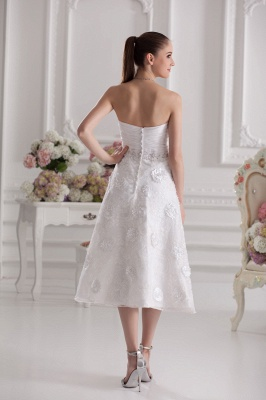 New Wedding Dresses Short With Lace A Line Knee Length Dresses Wedding Gowns Cheap_5