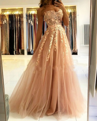 Cheap evening dress with lace | Prom dresses evening wear online_3